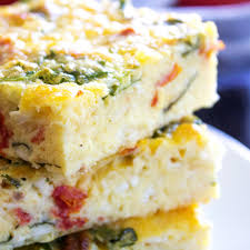 Spinach Quiche With Cottage Cheese by Simple Spinach U0026 Tomato Breakfast Casserole Real Housemoms