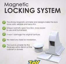 Baby Cabinet Locks Magnetic Child Kids Baby Safety Slide Lock Magnetic Cabinet Locks Drawers