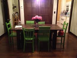 Green Dining Room Chairs by Green Painted Dining Chairs