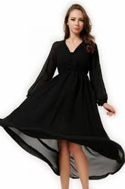 black maxi dress black v neck sleeves womens chiffon maxi dress