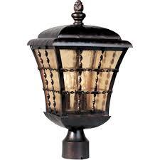 Innova Lighting Led 3 Light Outdoor L Post Maxim Lighting Orleans 3 Light Rubbed Bronze Outdoor Pole Post