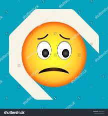 halloween background emoji emoticon sad face sad emoji vector stock vector 466573091
