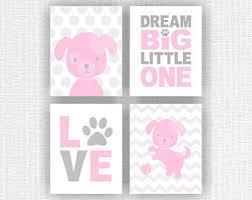 Pink And Grey Girls Bedroom Chevron Girls Room Etsy