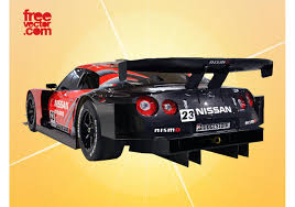nissan race car race car vector two download free vector art stock graphics