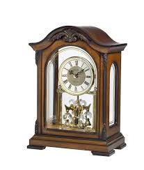 bulova chiming anniversary clock gold pinstripe glass panels