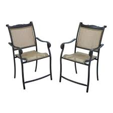 Patio High Chairs Hton Bay Westbury Patio High Dining Chairs 2 Pack For Sale In