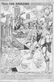 themarvelageofcomics splash page to amazing spider man 122 by
