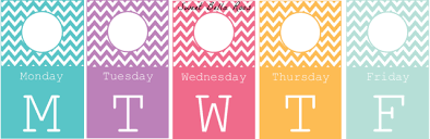 days of the week closet tags free printable grace and good eats