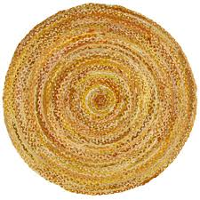 Braided Rugs Round by Ring Around The Ribbon Yellow Round Rug Round Rugs Nursery And