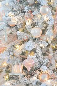 white christmas trees karas party ideas blush pink vintage inspired tree vintage