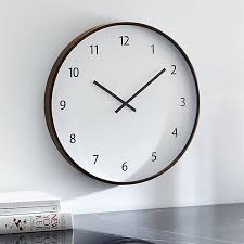 large wall clock lorne large wall clock in clocks reviews crate and barrel