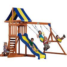 Cedar Playsets Amazon Com Backyard Discovery Providence All Cedar Wood Playset