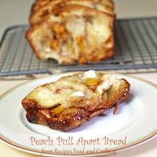 peach pull apart bread breadbakers recipes food and cooking