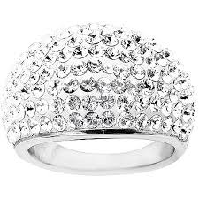 rings swarovski images Luminesse luminesse dome ring with swarovski crystals in jpeg