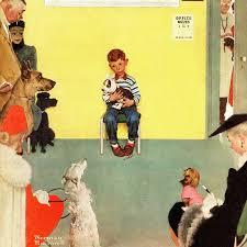 marmont hill at the vets by norman rockwell painting print on
