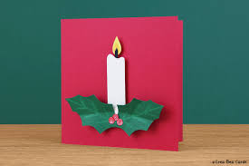 christmas candle card tutorial