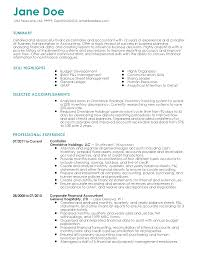 Accounts Receivable Resume Template Professional Finance Controller Templates To Showcase Your Talent