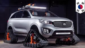 suv kia 2016 tank treads on a car kia concept car has tank treads on a family