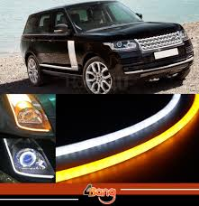 white land rover lr2 2x 60cm drl flexible led tube tear strip style car headlight light