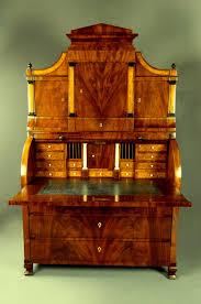 Mahogany Furniture Concept Important Cylinder Bureau Palm Secretaire Mahogany Biedermeier The