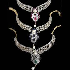 white stone necklace sets images Ad white stone necklace set richie jewel manufacturer in jpg