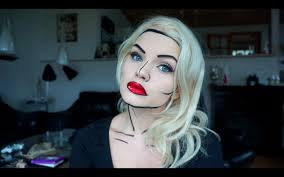 easy face makeup for halloween comic book makeup tutorial super quick and easy halloween makeup