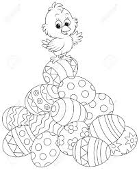 Easter Chickens Egg Free Coloring Page Best Coloring Page