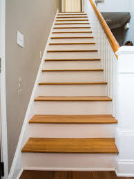 Stairs With Open Risers by How To Step Up Your Stair Risers With Wallpaper Hgtv