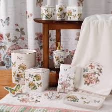 Butterfly Kitchen Curtains Butterfly Garden Bath Accessories Set Avanti Linens