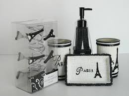Paris Bathroom Set by Paris Bathroom Accessories Sets Home Basics Paris 4 Piece Bathroom