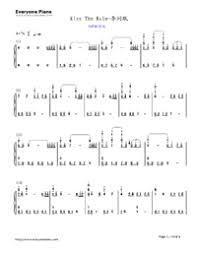 download tutorial kiss the rain kiss the rain original version free piano sheet music piano chords