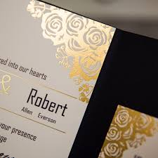 gold wedding invitations black and gold wedding invitations blueklip