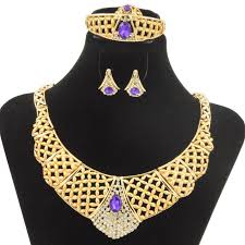 wedding necklace gifts images 2018 wholesale fashion beautiful gifts africa bride gold jewelry jpg