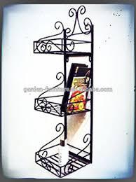 rod iron home decor home decor wrought iron 3 tier shelf vintage wall rack hotel style