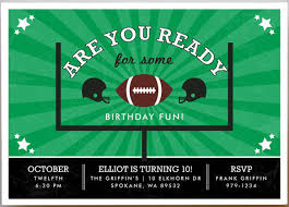 football party invitations sports themed parties partyideapros com