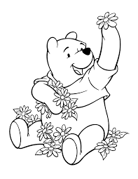 free printable winnie pooh coloring pages kids
