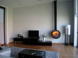 wood burning fireplace contemporary closed hearth wall
