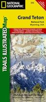 Map Grand Canyon Grand Teton National Park Trails Illustrated Map 202 National