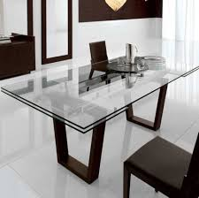 Designer Glass Dining Tables Modern Glass Dining Table Custom Glass Dining Room Table With