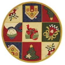 round christmas rugs you u0027ll love wayfair