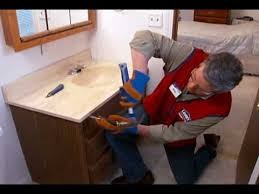 convert pedestal sink to vanity how to replace a vanity and sink youtube