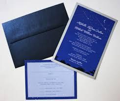 Silver Wedding Invitation Cards Astrology Themed Wedding Invitations Emdotzee Designs