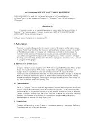 Agreement Letter Template Between Two Parties Web Site Maintenance Contract Web Development Contracts Legal