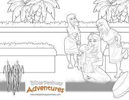 Bible Coloring Pages Moses Bible Coloring Pages Moses