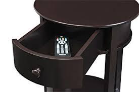 White Round Accent Table Amazon Com Ameriwood Home Tipton Round Accent Table Espresso