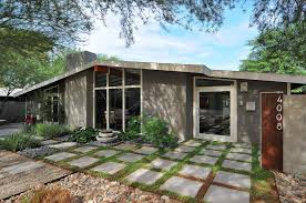 landscaping ideas end driveway mid century modern with circular