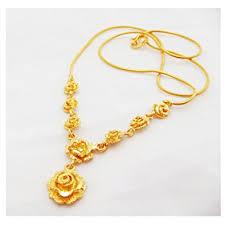 rose flower necklace images Rose flower 22k 23k 24k thai baht yellow gold gp jpg