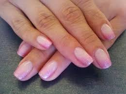 gel color manicure on her now natural nails chose a natural pink