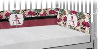 sugar skulls u0026 flowers crib bumper pads personalized