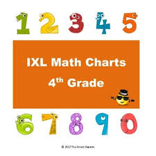ixl math progress charts for 4th grade by the arnett gazette tpt